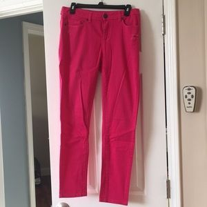 Hot Pink Distressed Jeans